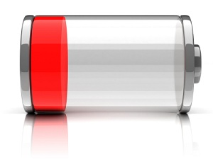 low cell phone battery